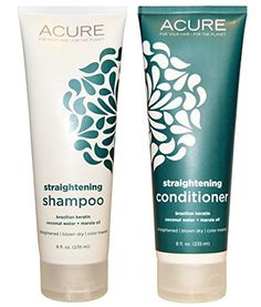 Acure Organics Coconut Hair Straightening All Natural Shampoo and Conditioner Bundle (Sulfate Free) With Keratin Complex Hair Treatment, Marula Oil for Hair, Argan Oil of Morrocco, Aloe Vera and Acai for Men and Women, 8 fl. oz. each - http://essential-organic.com/acure-organics-coconut-hair-straightening-all-natural-shampoo-and-conditioner-bundle-sulfate-free-with-keratin-complex-hair-treatment-marula-oil-for-hair-argan-oil-of-morrocco-aloe-vera-and-acai/