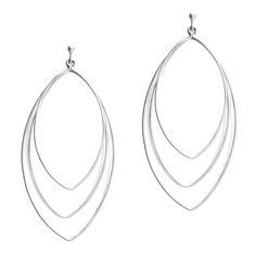 DEVYN SILVER - Big, bold and light, the Devyn Silver earrings strike a chord! - 3 brushed sterling silver open ellipse hoops - 3 long $48.00 www.michell.kitsylane.com