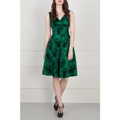 Green Black Elegant Dress