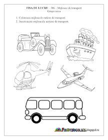 Fise de lucru - gradinita: Fise de lucru - Mijloace de Transport Grupa mica - DS - Cunoasterea mediului Preschool Education, Preschool Themes, Kids And Parenting, Transportation, Comics, Volcano, Google, Crafts, Activities