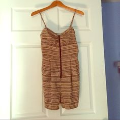 Zip-Front Romper, Never Worn! Super cute patterned zip front romper with pockets. Size 6. Tried on, never worn! Other