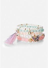 Beaded Stretch Bracelets - 5 Pack - 7283095