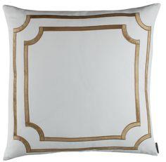 SoHo European Pillow with Straw Velvet Trim