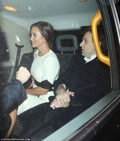Pippa jumped into a taxi as she left Mark's Club in Mayfair following the British Heart Fo...