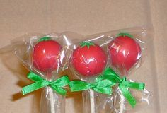 1 Basic Tomato Cake Pop great for themed by RendezvousSweets, $1.50