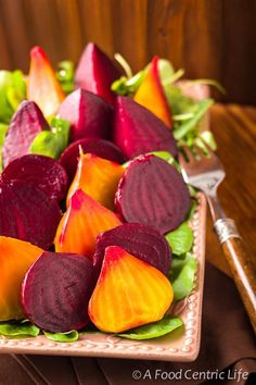 Roasted Red and Golden Beets. Oh Yum