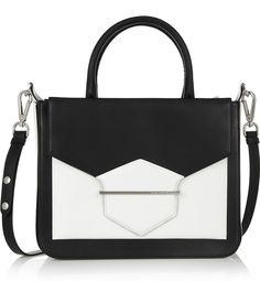 Karl Lagerfeld Khic two-tone leather shoulder bag.