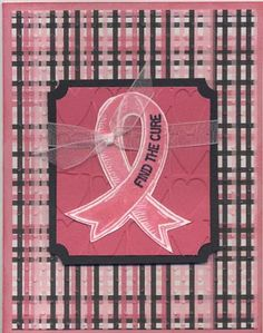 Breast Cancer card using CTMH product.