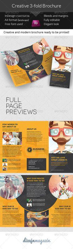 Creative Brochure - 3-fold InDesign Template