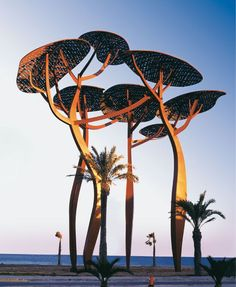 La pineda by Mariscal, so beautiful and elegant, just gorgeous. Urban Landscape, Landscape Art, Landscape Architecture, Landscape Design, Landscape Photography, Tree Sculpture, Sculptures, Landscape Structure, Pergola