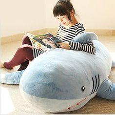 Huge Stuffed Plush Shark Pillow.