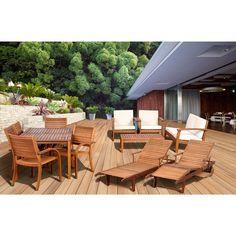 Amazonia 13 Pc. Eucalyptus Patio Collection With Bonus Feronu0027s Wood  Sealer/Preservative   · Wood SealerFurniture SetsNatural WoodBju0027s ...