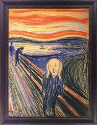 """Edvard Munch: Bild """"Der Schrei"""" (1895), gerahmt"""
