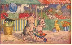 When Piglets go to market - The Jumble Bears