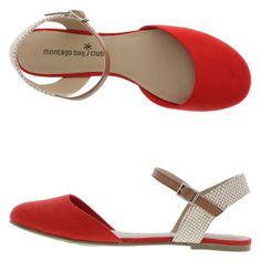 Women's Paloma Flat Sling, Red