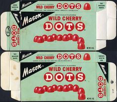Mason - Wild Cherry Dots - candy box - 1970's