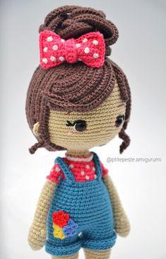 Crochet Doll Tutorial, Crochet Doll Pattern, Crochet Patterns Amigurumi, Amigurumi Doll, Crochet Dolls, Art Japonais, Cute Crochet, Stuffed Toys Patterns, Doll Patterns