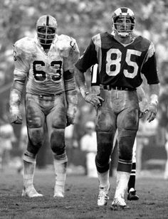 Gene Upshaw (Raiders) and Jack Youngblood (Rams)