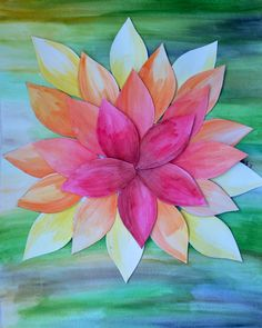 Layered watercolor flower!