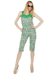 Salopeta Dama Spring Color  Salopeta dama casual. Imprimeu floral deosebit.  Insertie de dantela fina semitransparenta in partea din fata-sus, ce i confera un plus de senzualitate, ce va va face cu siguranta remarcata. Se inchide cu fermoar la spate.     Lungime totala: 105cm  Lungime pantalon: 64cm  Latime talie: 35cm  Compozitie: 100%Poliester Lily Pulitzer, Jumpsuit, Dresses, Fashion, Overalls, Vestidos, Moda, Fashion Styles, Jumpsuits