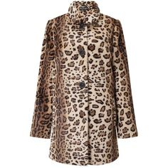 Miss Selfridge Leopard Faux Fur Dolly Coat ($110) ❤ liked on Polyvore featuring outerwear, coats, assorted, leopard print coat, oversized coat, leopard coat, brown coat and miss selfridge coat