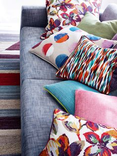 Fabrics from Jane Churchill's Samba and Lucas collections