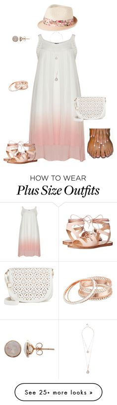 """""""You're Making Me Blush plus size"""" by jacobjarettsmom on Polyvore featuring Steve Madden, GUESS, Under One Sky, Nine West, plussize, summerfashion, heatwave and plussizefashion"""