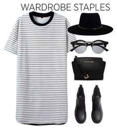 """""""#tshirtdress"""" by kate-rattigan ❤ liked on Polyvore featuring H&M, MICHAEL Michael Kors, Zimmermann and tshirtdress"""