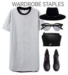 #tshirtdress by kate-rattigan on Polyvore featuring H&M, MICHAEL Michael Kors, Zimmermann and tshirtdress
