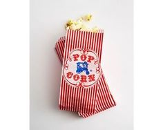 Popcorn Paper Bags 50 Retro Gusseted Favor Party Treat Bag 3 5  x 2 25  x 7 75…