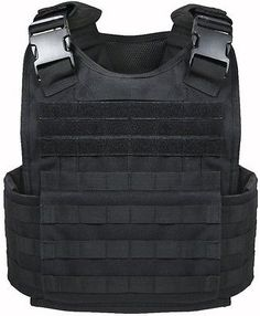 Black Military Police Security Molle Tactical Plate Carrier Vest 8922