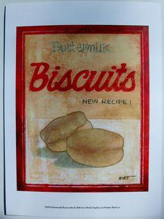 $21.50  Breakfast ART Print BY Norman Wyatt JR Buttermilk Biscuit MIX | eBay