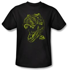T-shirts - Absolutely Prehistoric Absolutely Prehistoric  T-shirts  Prehistoric T-shirts: Jurassic Park - Rex Mount $21.99