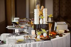 An amazing buffet set-up by Premiere Catering at Bella Via Venue