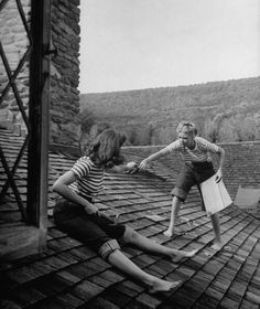 on a roof