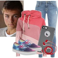 meeting Peyton meyer by abandoned-leftpolyvore on Polyvore featuring polyvore, fashion, style, Frame, Vans, OtterBox, FOSSIL and clothing
