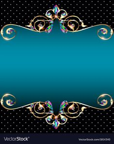 Background frame with jewels vector image on VectorStock Colorful Wallpaper, Flower Wallpaper, Wedding Background Images, Free Wedding Invitation Templates, Persian Architecture, Fruit Logo, Photo Frame Design, Hd Phone Wallpapers, Powerpoint Background Design