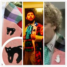 The Sixth Doctor Cat Brooch Colin Baker Costume the by FeltWitch