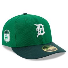 9714660aaca Detroit Tigers New Era 2017 St. Patrick s Day Diamond Era 59FIFTY Low  Profile Fitted Hat - Green