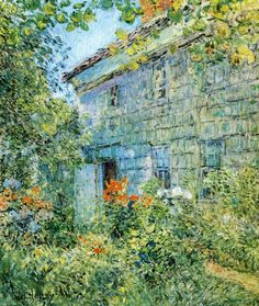 The Athenaeum - Old House and Garden, East Hampton (Frederick Childe Hassam - )