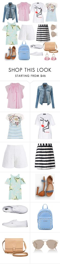 """Без названия #149"" by lesyalife on Polyvore featuring мода, Temperley London, LE3NO, Dsquared2, Chicwish, MSGM, MANGO, Talbots, Vans и Love Moschino"