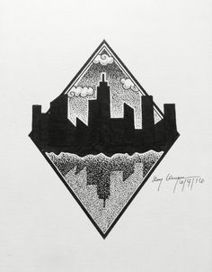 City skyline drawing great idea!