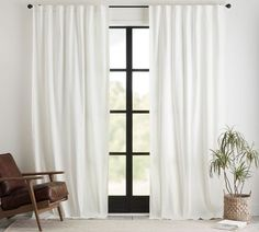 Broadway Rod Pocket Curtain, Set of 2 - Ivory   Pottery Barn Neutral Curtains, Ivory Curtains, Long Curtains, Black Curtains, Rod Pocket Curtains, Curtains Living, White Velvet Curtains, Dining Room Curtains, Linen Curtain