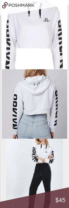 Spotted while shopping on Poshmark: TOPSHOP  CROP HOODIE! #poshmark #fashion #shopping #style #Topshop #Tops