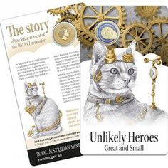 2015 $1 Unlikely #Heroes #HMAS Encounter #Feline #Mascot Unc #Coin. On Navy ships, cats have long been regarded as creatures of many talents. Whether they were catching rats and mice to protect food from vermin or using their senses to detect bad weather, they provide hope and comfort to the crews. Whatever happened to them, they would land on their own four feet, fitting much into their nine lives.