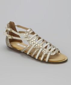 Look at this Milk Sweetness Leather Sandal on #zulily today!