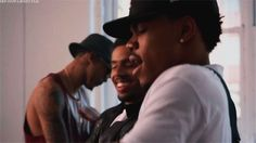 when you with your friends and your song come on. ( chance the rapoer, vic mensa, august alsina )