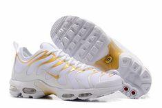Nike Air Max Plus TN GS    White Gold    Size: 3.5 Depop