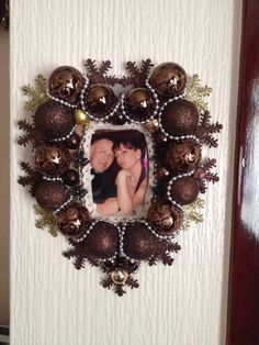 Christmas bauble frame
