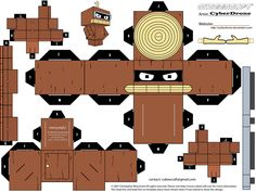 PaperToy_The Simpsons - Bender Wooden